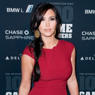 Kim Kardashian in The Huffington Post 2011 Game Changers Event