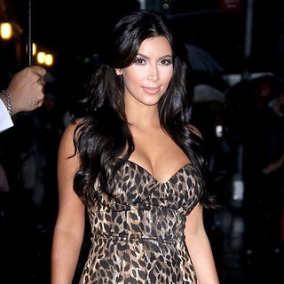 Kim Kardashian in The Late Show with David Letterman - Arrivals
