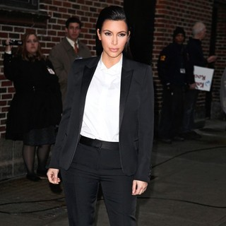 Kim Kardashian in Celebrities for The Late Show with David Letterman