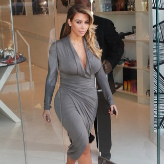 Kim Kardashian in Kim Kardashian Leaving The Dash Store