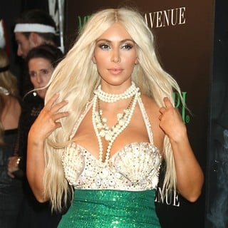Kim Kardashian in Kim Kardashian Dressed as A Mermaid Attends The Midori Halloween Party