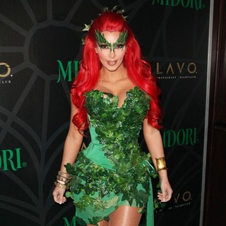 Kim Kardashian in Kim Kardashian Hosts The Midori Melon Green Halloween Party