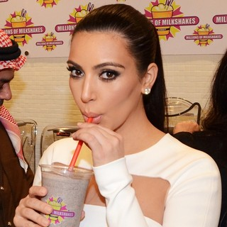 Kim Kardashian in The Opening of Millions of Milkshake