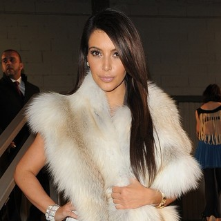 Kim Kardashian in Paris Fashion Week Autumn-Winter 2012 - Kanye West Fashion Show - Departures