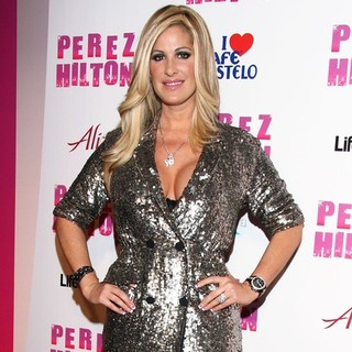 Kim Zolciak in Perez Hilton's Carn-Evil Theatrical Freak and Funk 32nd Birthday Party - Arrivals
