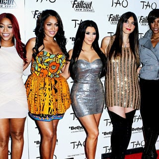 Trina, La La Vazquez, Kim Kardashian, Brittny Gastineau, Kelly Rowland in Kim Kardashian Celebrates Her 30th Birthday with Family and Friends
