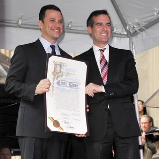 Jimmy Kimmel, Eric Garcetti in Jimmy Kimmel Honored with A Star on The Hollywood Walk of Fame