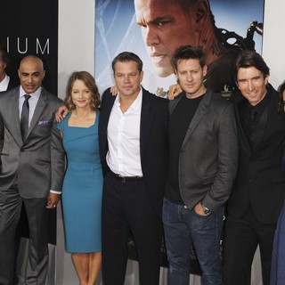 Simon Kinberg, William Fichtner, Faran Tahir, Jodie Foster, Matt Damon, Neill Blomkamp, Sharlto Copley, Alice Braga, Diego Luna in World Premiere of TriStar Pictures' Elysium