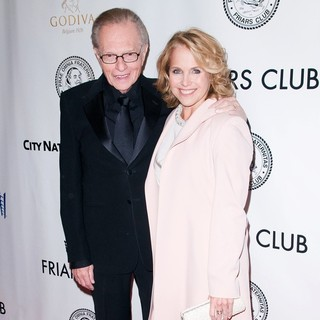 Katie Couric in Larry King Is Honored at The 2011 Friars Club Testimonial Dinner Gala - king-couric-2011-friars-club-testimonial-01