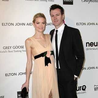 Jaime King, Kyle Newman in 21st Annual Elton John AIDS Foundation's Oscar Viewing Party