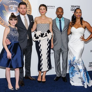 Joey King, Channing Tatum, Maggie Gyllenhaal, Jamie Foxx, Garcelle Beauvais in New York Premiere of White House Down
