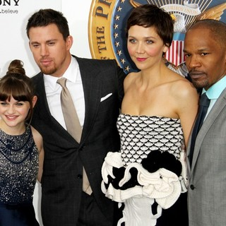Joey King, Channing Tatum, Maggie Gyllenhaal, Jamie Foxx in New York Premiere of White House Down