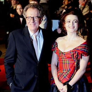 Geoffrey Rush, Helena Bonham Carter in The BFI London Film Festival: 'The King's Speech' - UK Film Premiere - Arrivals