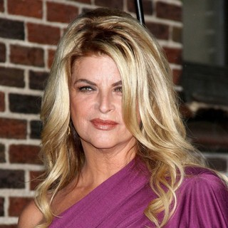 Kirstie Alley in The Late Show with David Letterman - Arrivals
