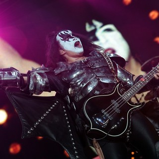 Gene Simmons, KISS in KISS Performing at Wembley Arena