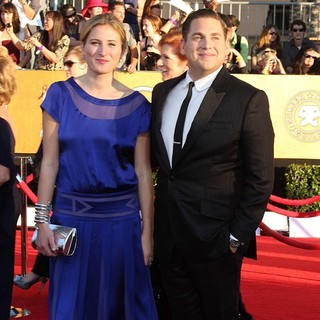 Ali Hoffman, Jonah Hill in The 18th Annual Screen Actors Guild Awards - Arrivals
