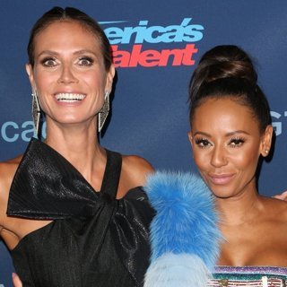 Heidi Klum, Melanie Brown-America's Got Talent Season 11 Live Show - Red Carpet