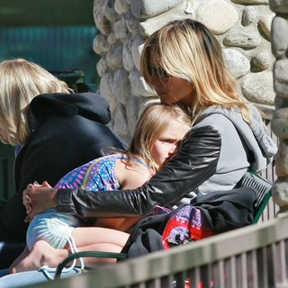 Heidi Klum, Leni Klum in Heidi Klum on A Family Day Out