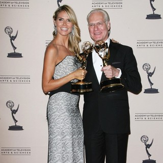 Heidi Klum, Tim Gunn in 2013 Primetime Creative Arts Emmy Awards - Press Room
