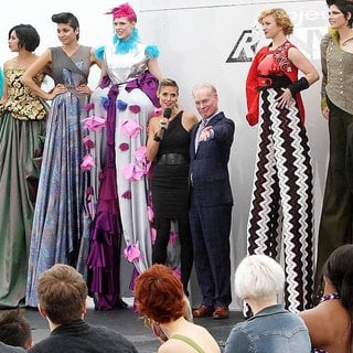 Heidi Klum, Tim Gunn in Shooting on Location for Project Runway
