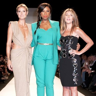 Heidi Klum, Jennifer Hudson, Nina Garcia in Mercedes-Benz New York Fashion Week Spring-Summer 2013 - Project Runway