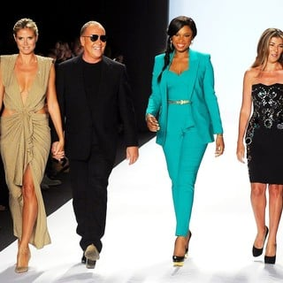 Heidi Klum, Michael Kors, Jennifer Hudson, Nina Garcia in Mercedes-Benz New York Fashion Week Spring-Summer 2013 - Project Runway