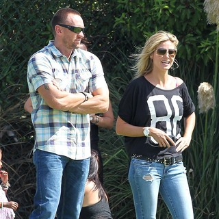 Martin Kristen, Heidi Klum in Heidi Klum Goes to Her Son's Soccer Game