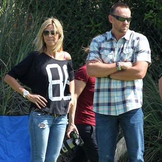 Heidi Klum, Martin Kristen in Heidi Klum Goes to Her Son's Soccer Game