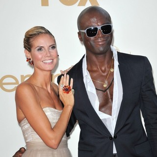 Heidi Klum, Seal in The 63rd Primetime Emmy Awards - Arrivals