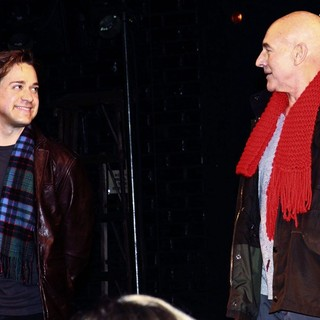 T.R. Knight, Patrick Stewart in Opening Night of The Broadway Production of David Mamet's A Life in The Theatre