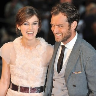 Keira Knightley, Jude Law in The Premiere of Anna Karenina