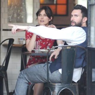 Keira Knightley, Adam Levine in Can a Song Save Your Life? Filming on Location