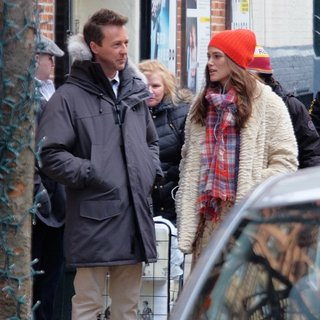 Keira Knightley - On The Set of Collateral Beauty