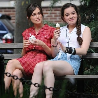 Keira Knightley in On The Set of Movie Can a Song Save Your Life? - knightley-steinfeld-set-can-a-song-save-your-life-03
