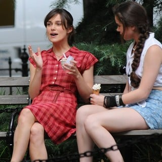 Keira Knightley in On The Set of Movie Can a Song Save Your Life? - knightley-steinfeld-set-can-a-song-save-your-life-06