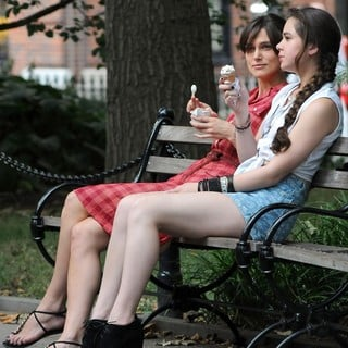 Keira Knightley in On The Set of Movie Can a Song Save Your Life? - knightley-steinfeld-set-can-a-song-save-your-life-08