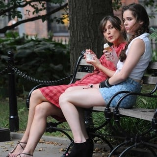 Keira Knightley, Hailee Steinfeld in On The Set of Movie Can a Song Save Your Life?