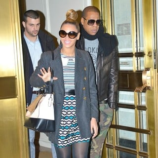 Beyonce Knowles - Beyonce Knowles and Jay-Z Leaving Bergdorf Goodman