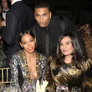 Solange Knowles, Nelly, Tina Knowles in The Angel Ball 2012