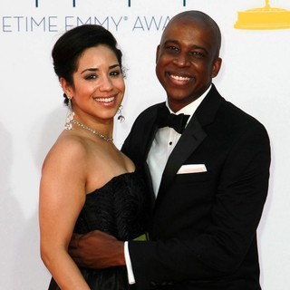 Jill Knox, Keith Powell in 64th Annual Primetime Emmy Awards - Arrivals