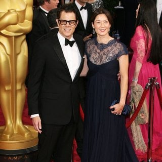 Johnny Knoxville, Naomi Nelson in The 86th Annual Oscars - Red Carpet Arrivals