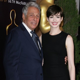 Hawk Koch, Anne Hathaway in 85th Academy Awards Nominees Luncheon