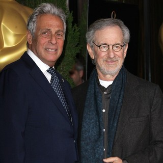 Hawk Koch, Steven Spielberg in 85th Academy Awards Nominees Luncheon