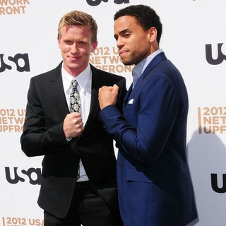 Warren Kole, Michael Ealy in The 2012 USA Network Upfront Presentation - Arrivals