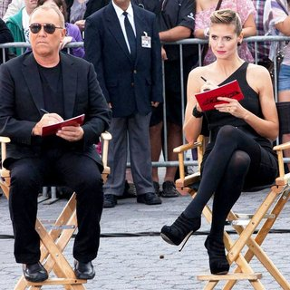 Michael Kors, Heidi Klum in Shooting on Location for Project Runway