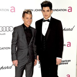 Sauli Koskinen, Adam Lambert in The 20th Annual Elton John AIDS Foundation's Oscar Viewing Party - Arrivals