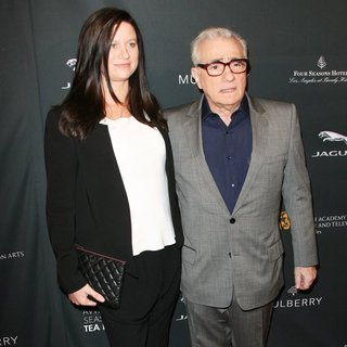Emma Tillinger Koskoff, Martin Scorsese in 2014 BAFTA Los Angeles Awards Season Tea Party