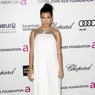 Kourtney Kardashian in The 20th Annual Elton John AIDS Foundation's Oscar Viewing Party - Arrivals