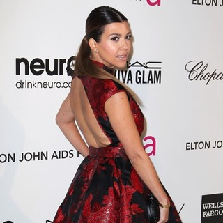 Kourtney Kardashian in 21st Annual Elton John AIDS Foundation's Oscar Viewing Party