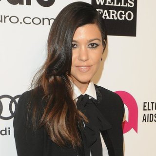 Kourtney Kardashian in 22nd Annual Elton John AIDS Foundation Academy Awards Viewing Party - Arrivals